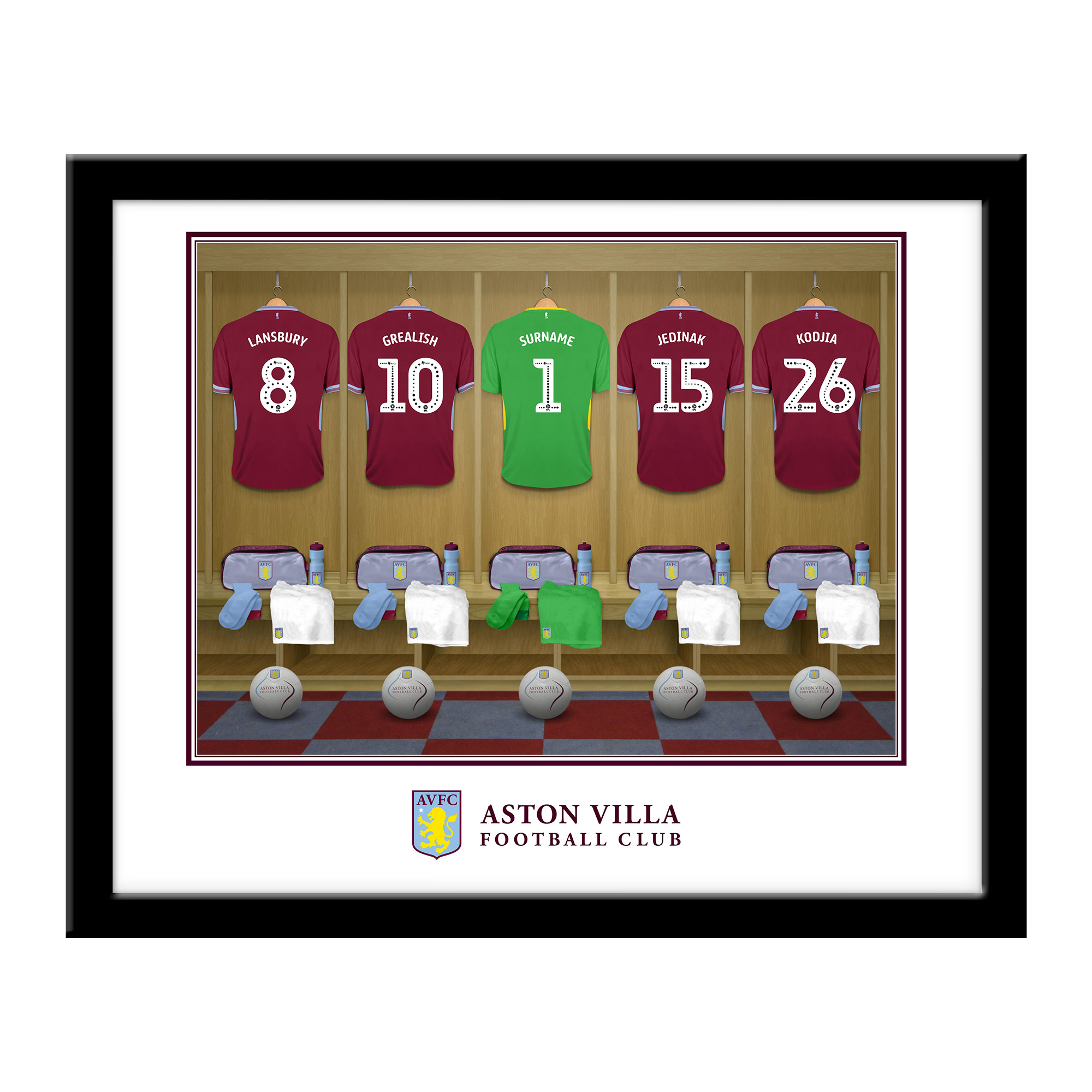 AVFC Goalkeeper Dressing Room Framed Print