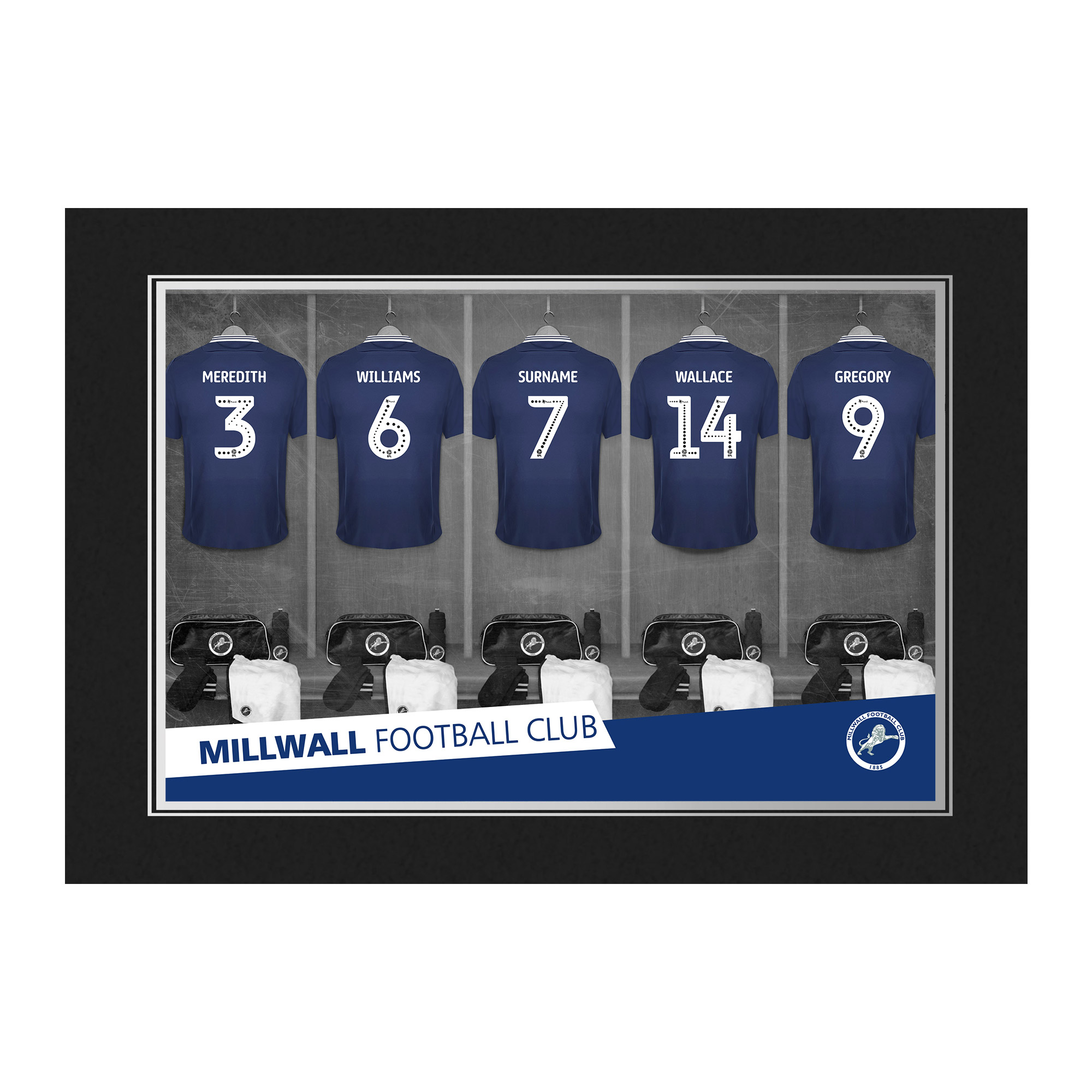 Millwall FC 9x6 Dressing Room Photo Folder