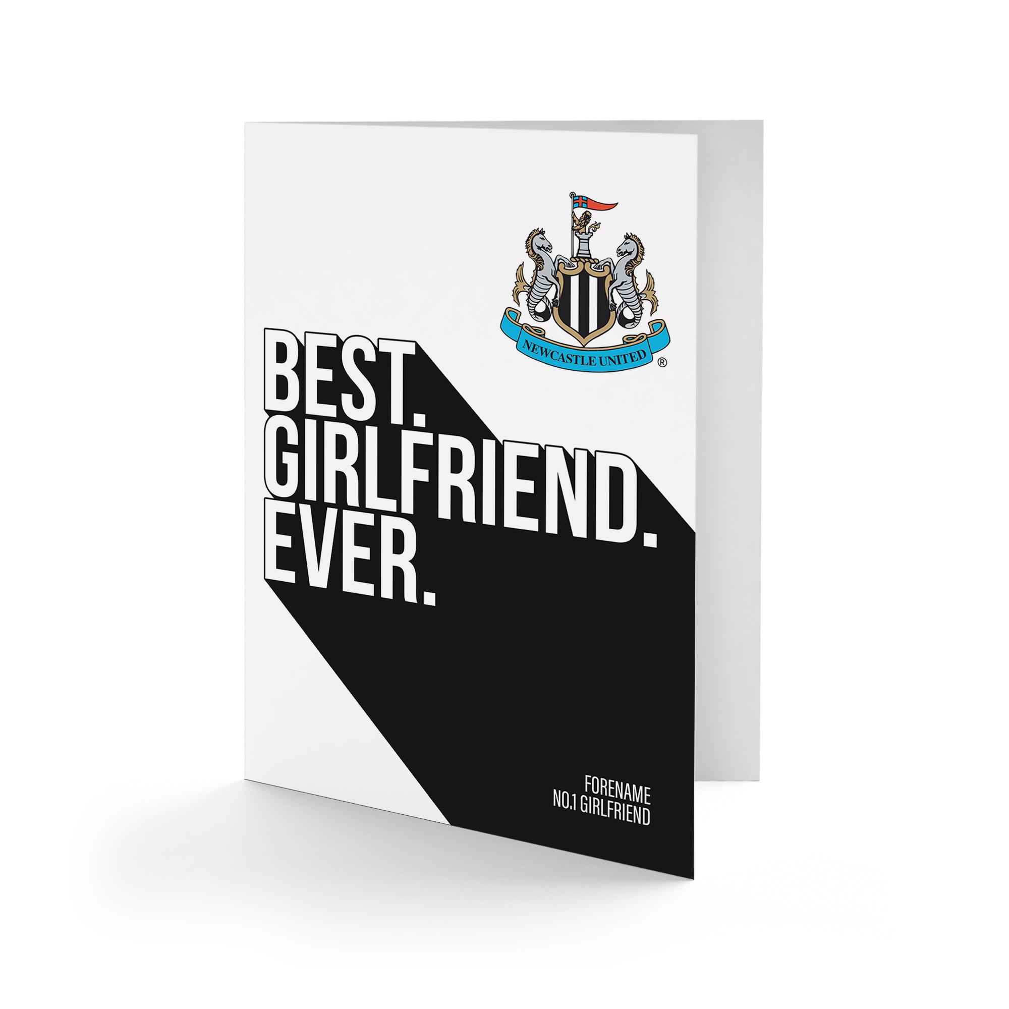 Newcastle United FC Best Girlfriend Ever Card