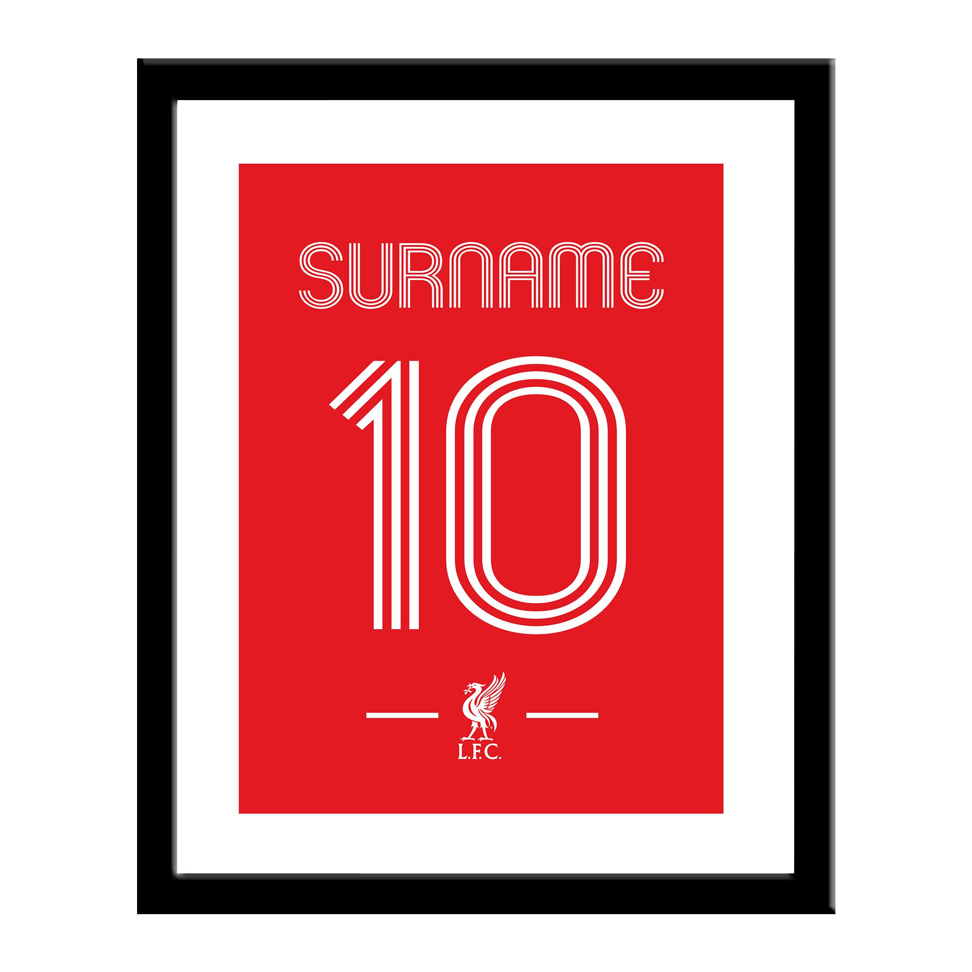 Liverpool FC Retro Shirt Print