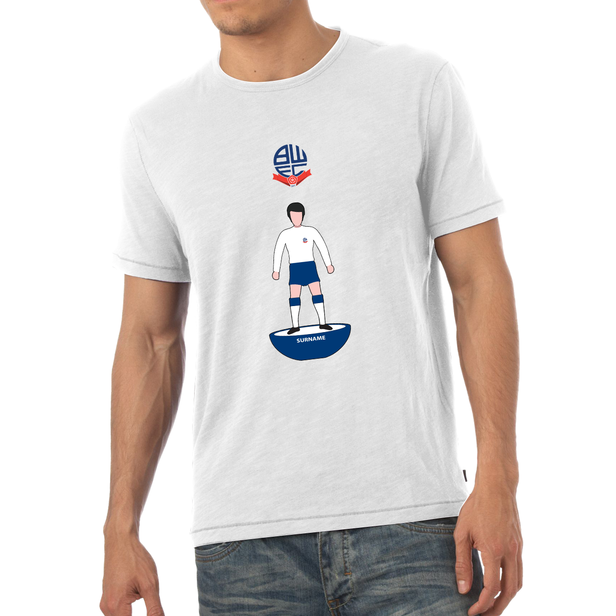 Bolton Wanderers Player Figure Mens T-Shirt