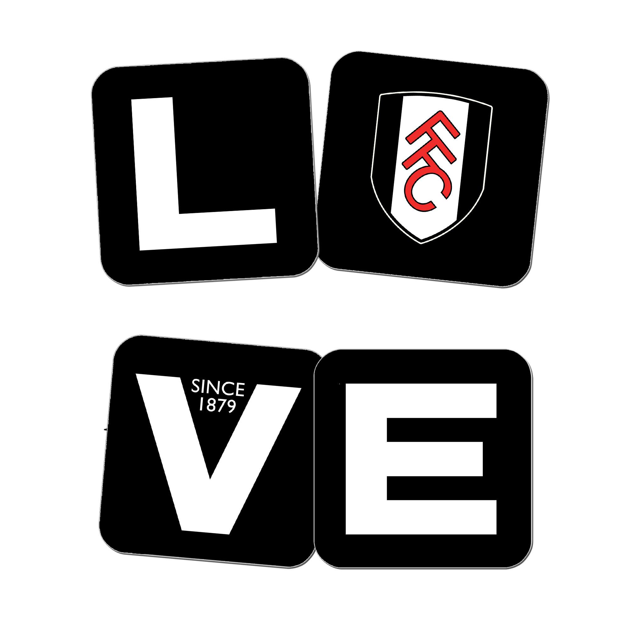 Fulham Love Coasters (x4)