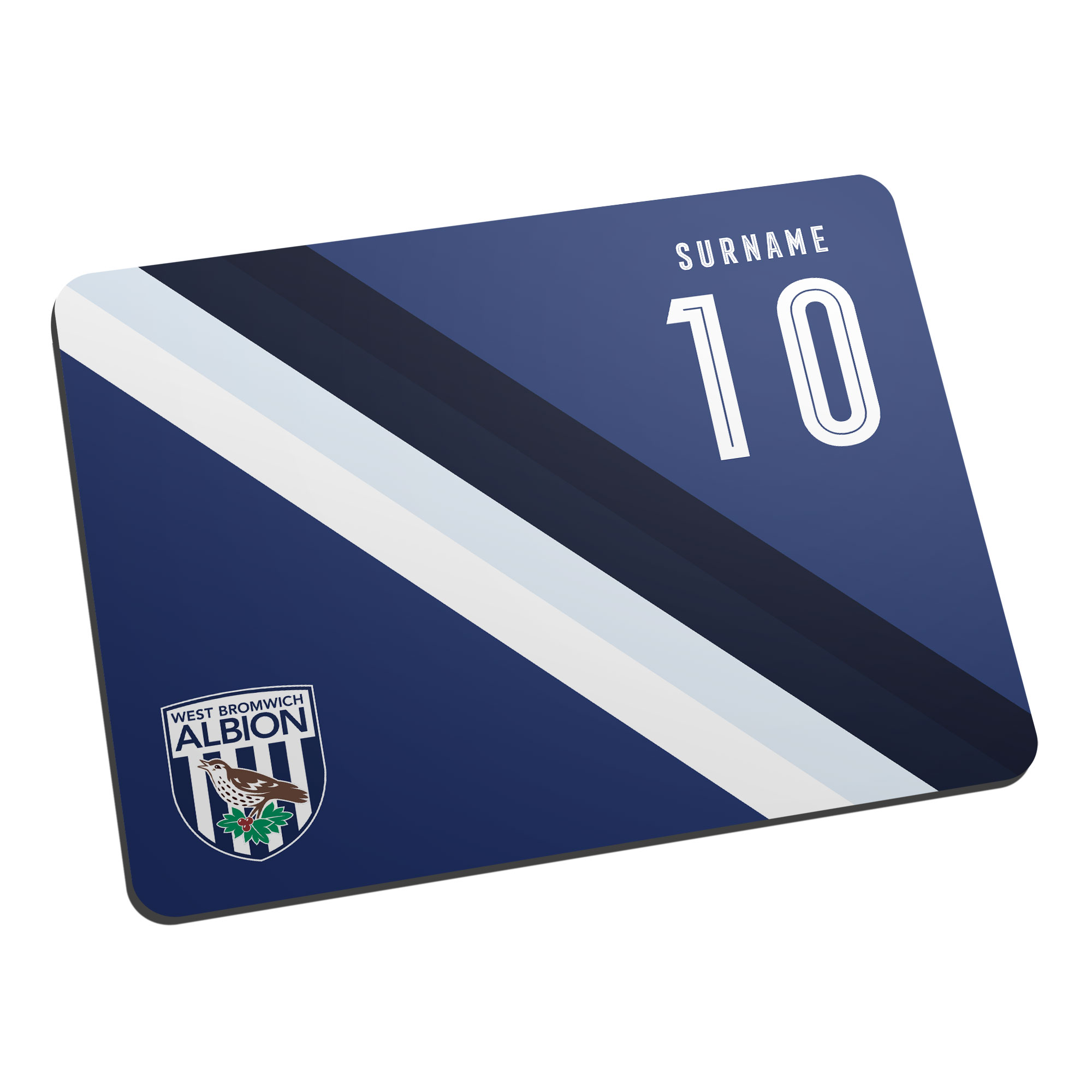 West Bromwich Albion FC Stripe Mouse Mat