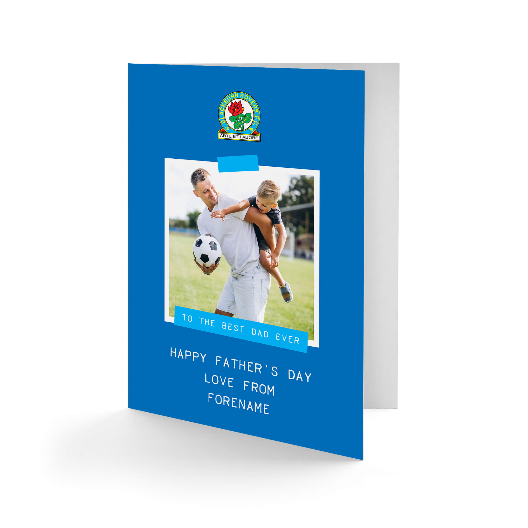 Blackburn Rovers FC Best Dad Ever Photo Upload Father's Day Card