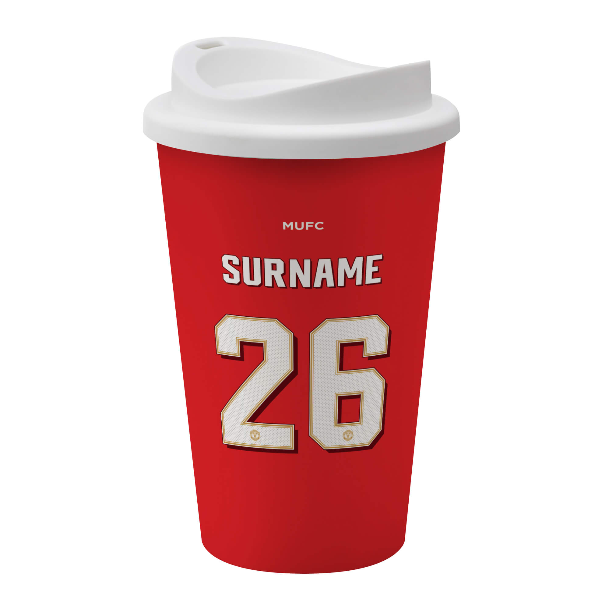 Manchester United FC Back Of Shirt Reusable Cup