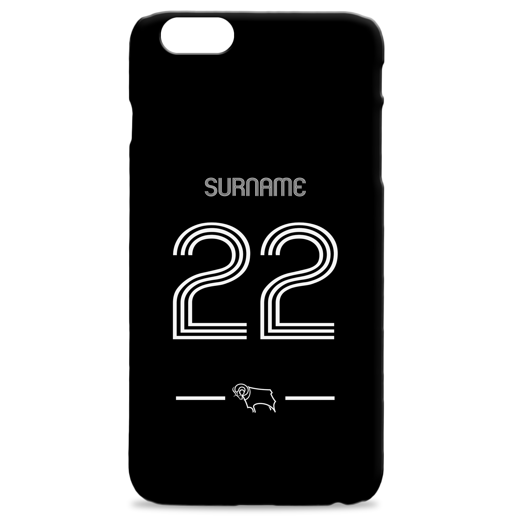 Derby County Retro Shirt Hard Back Phone Case