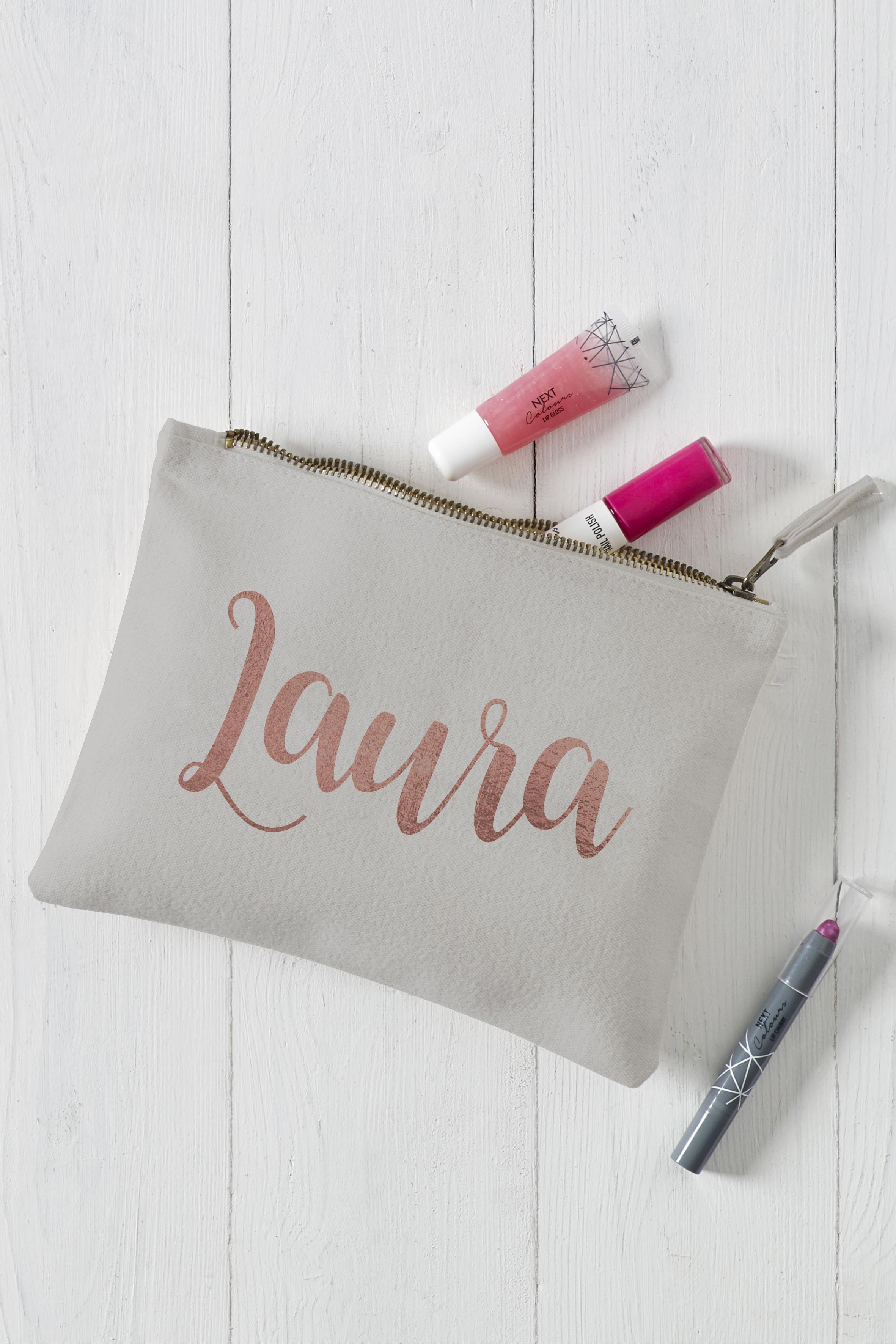 Name MakeUp Bag Grey
