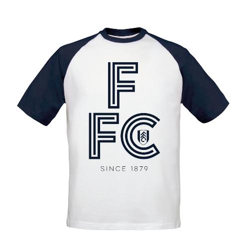 Fulham FC Initial Baseball T-Shirt