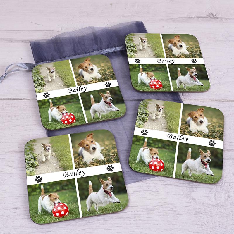 Pet Photo Upload Coaster Set