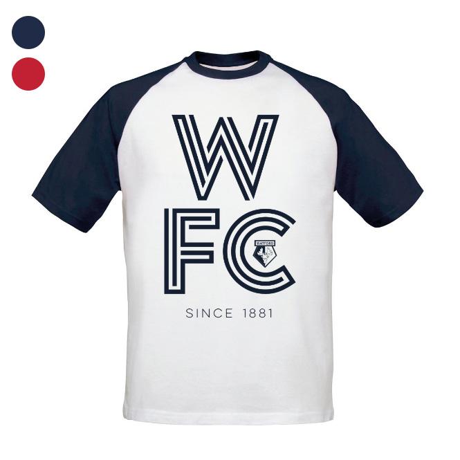 Watford FC Stripe Baseball T-Shirt