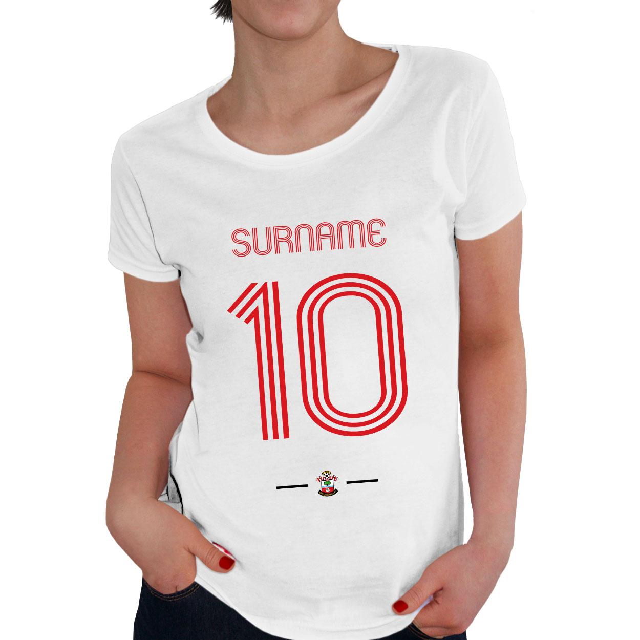 Southampton FC Retro Shirt Ladies T-Shirt