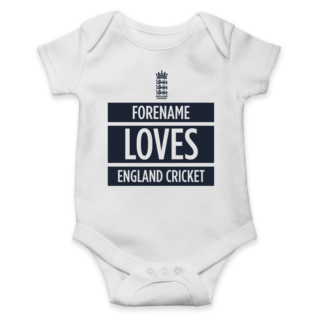 England Cricket Loves Baby Bodysuit