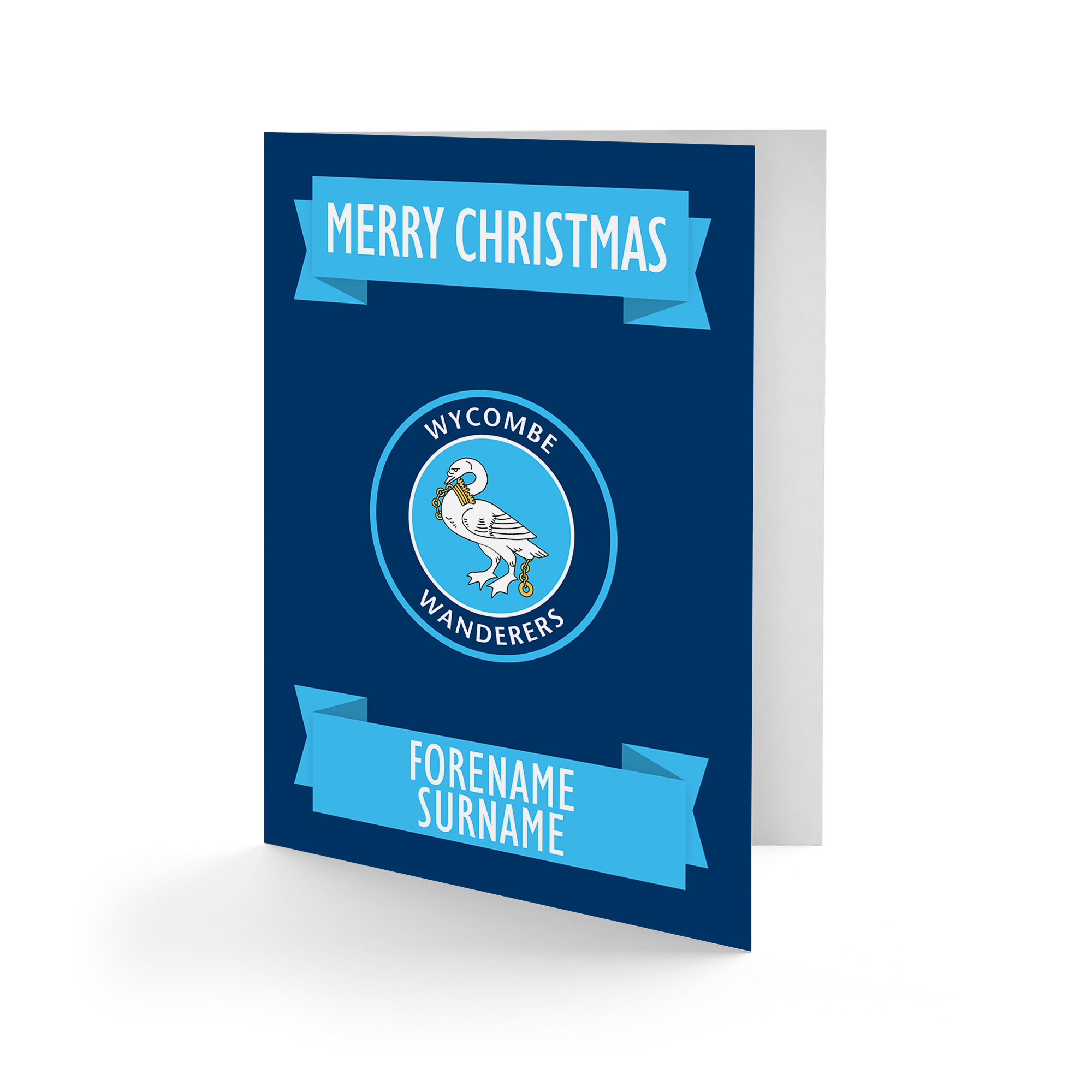 Wycombe Wanderers Crest Christmas Card