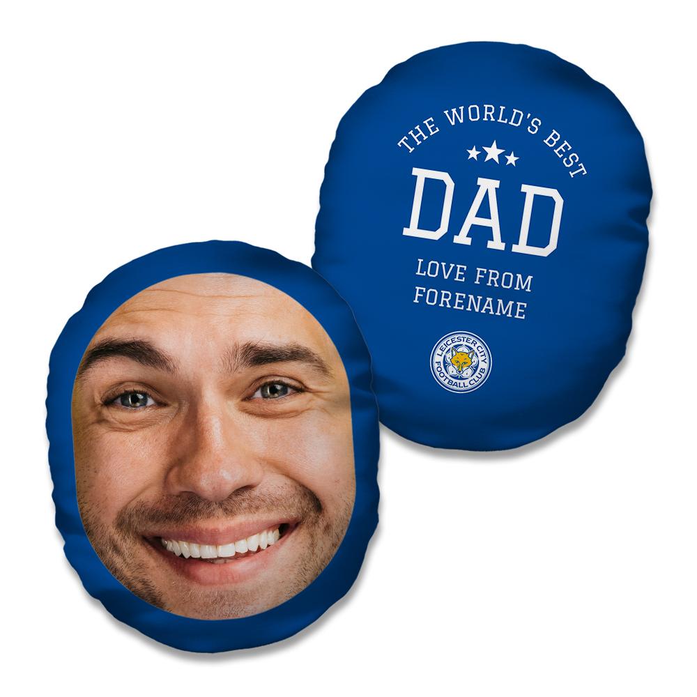 Leicester City FC World's Best Dad Mush Cush