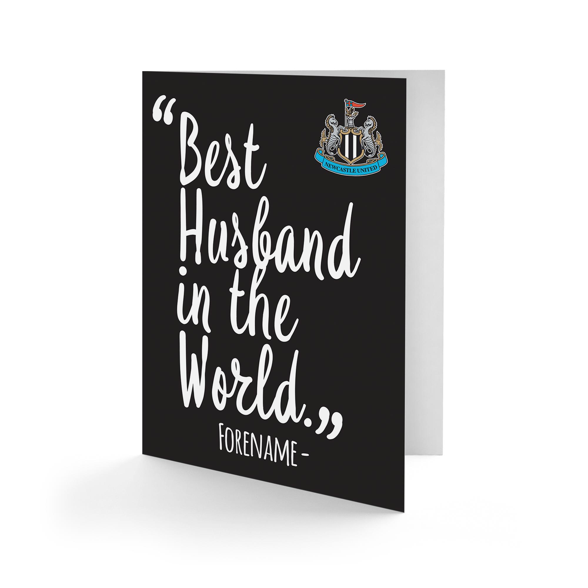 Newcastle United FC Best Husband In The World Card