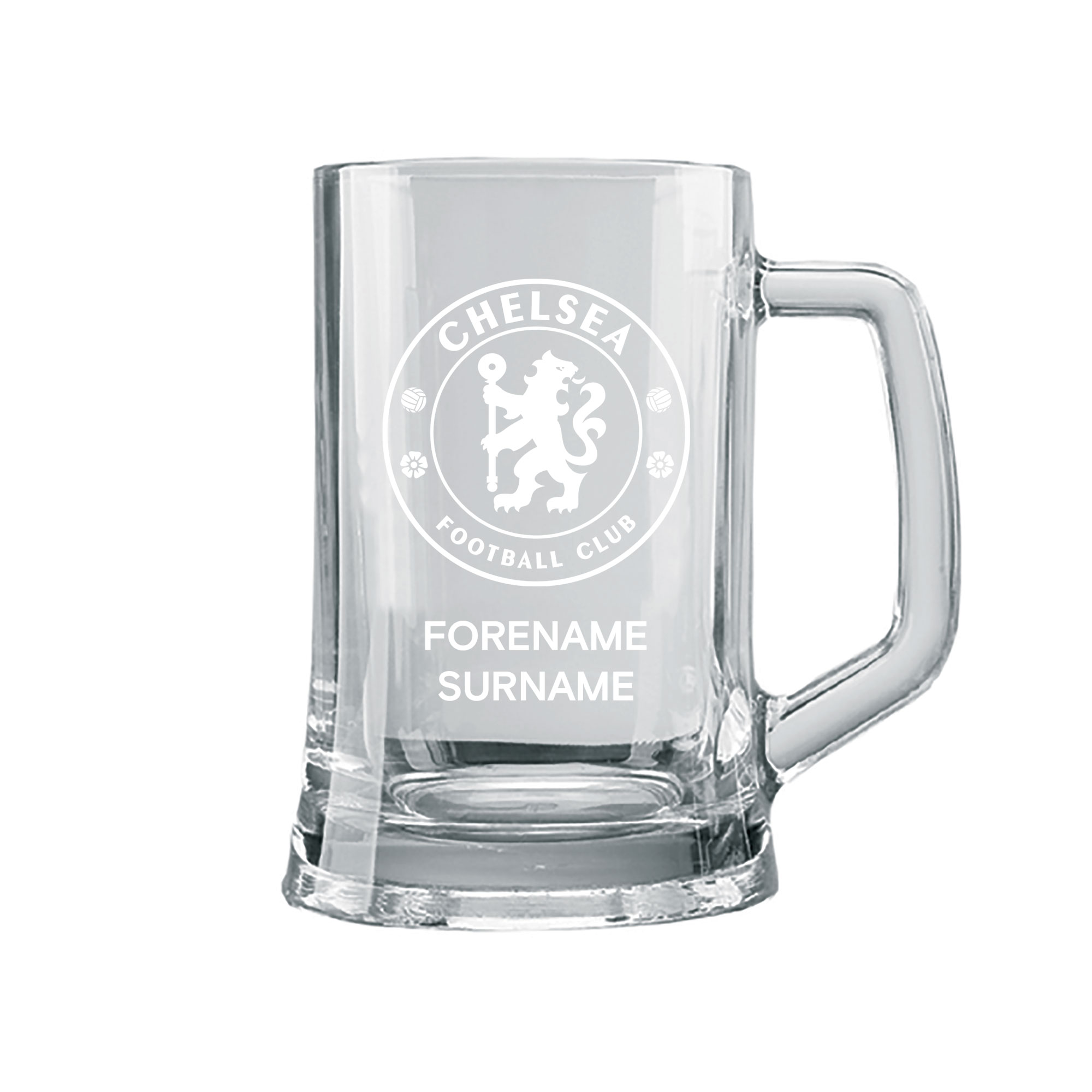 Chelsea FC Personalised Crest Small Plain Straight Sided Tankard