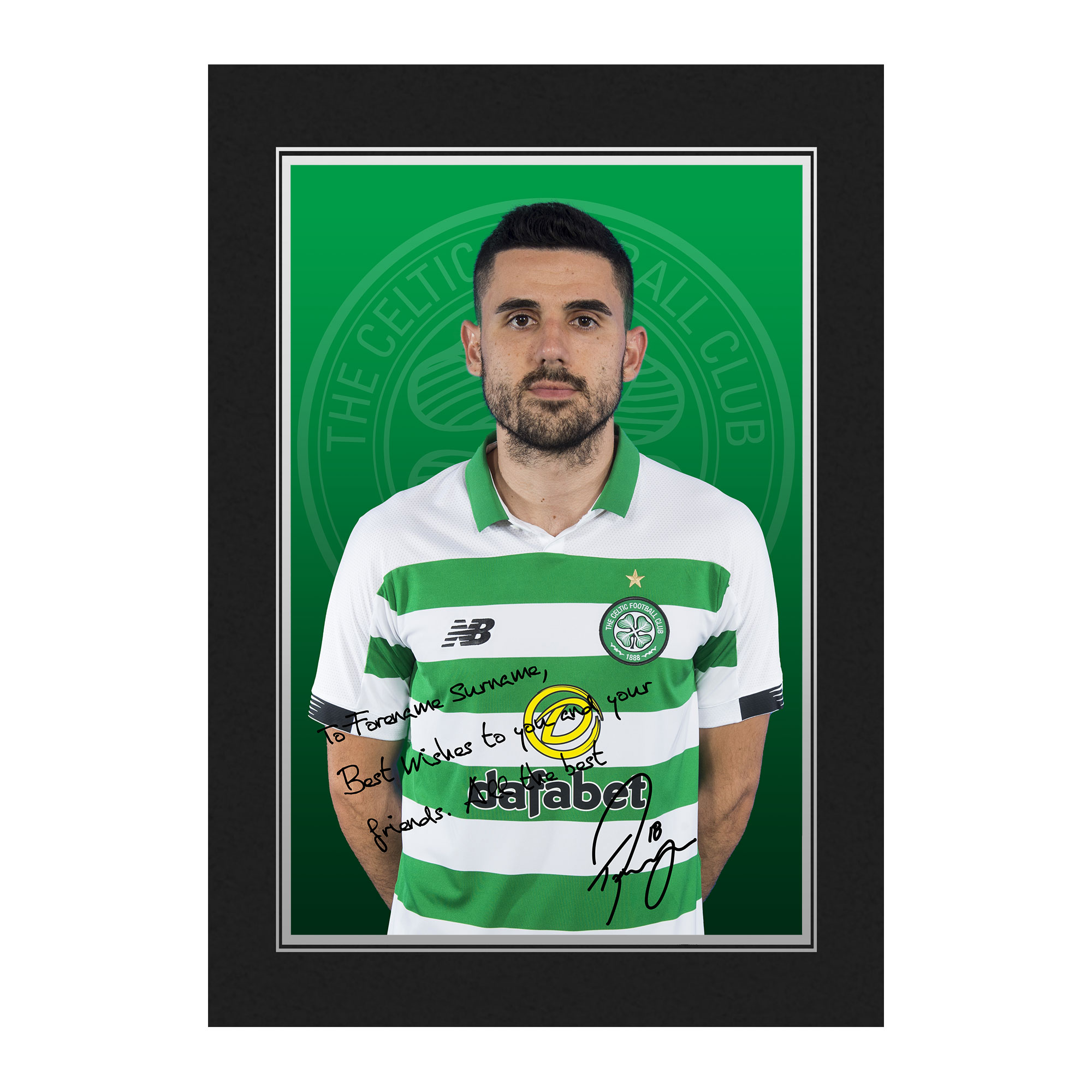 Celtic FC Rogic Autograph Photo Folder