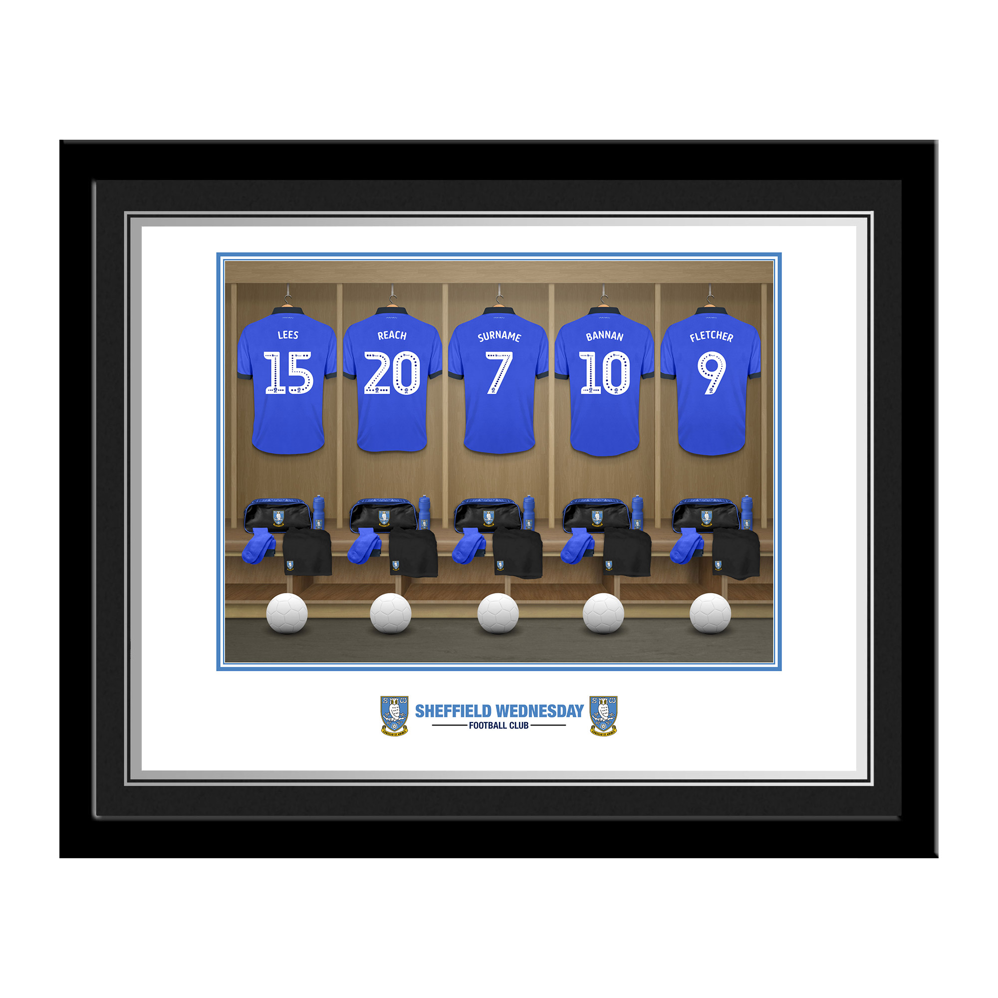 Sheffield Wednesday FC Dressing Room Photo Framed