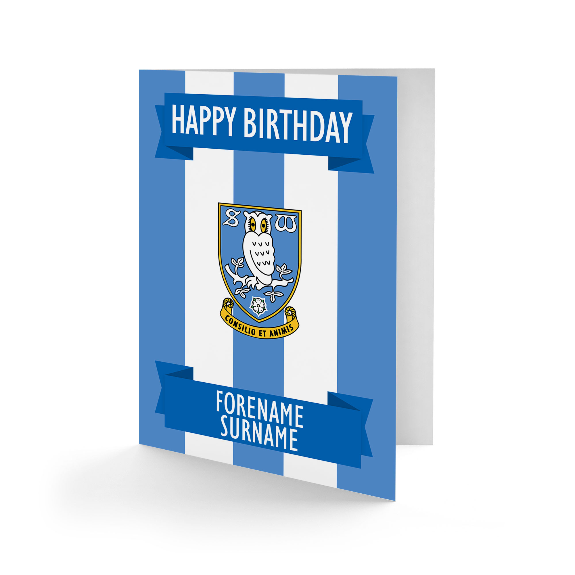 Sheffield Wednesday FC Crest Birthday Card