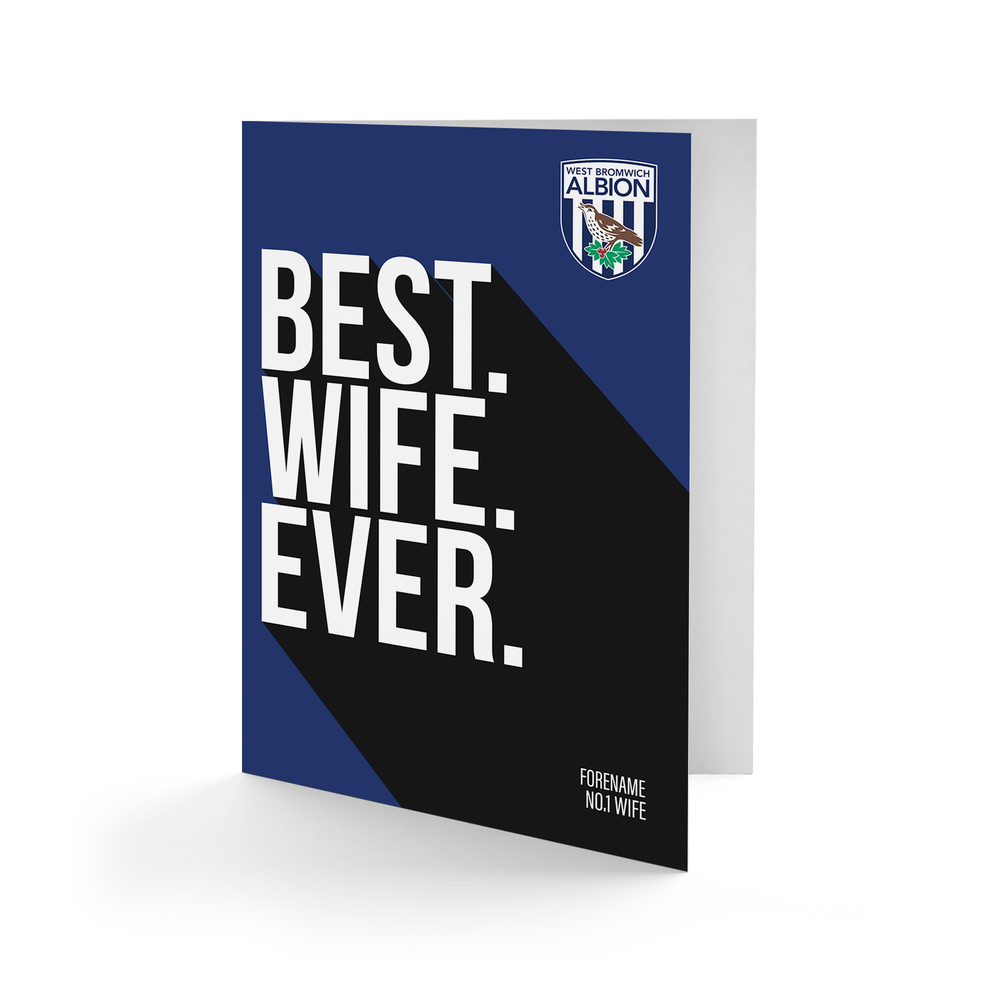West Bromwich Albion FC Best Wife Ever Card