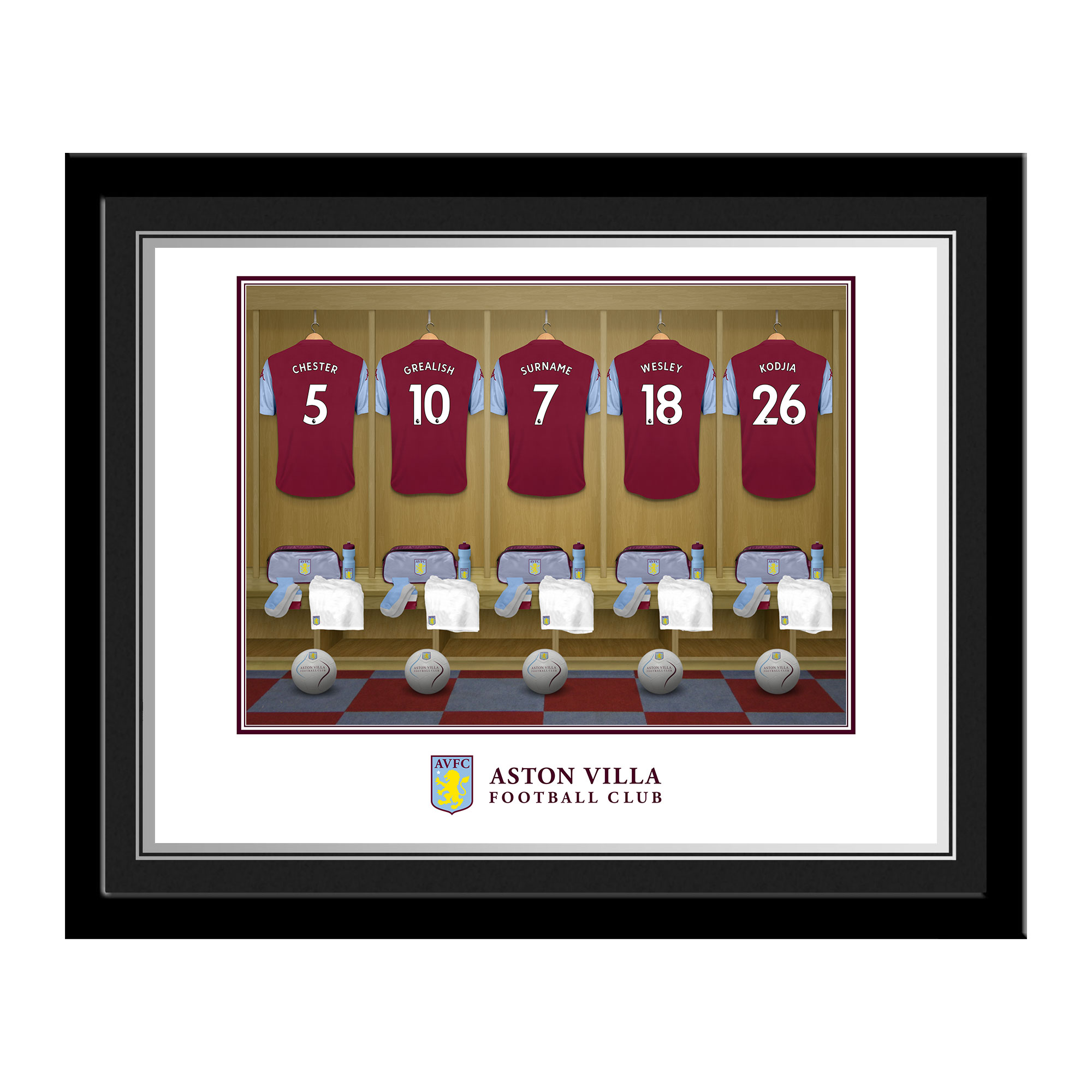 Aston Villa FC Dressing Room Photo Framed