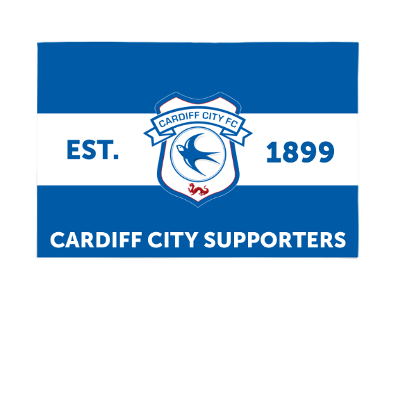 Cardiff City FC Supporters 6ft x 4ft Banner