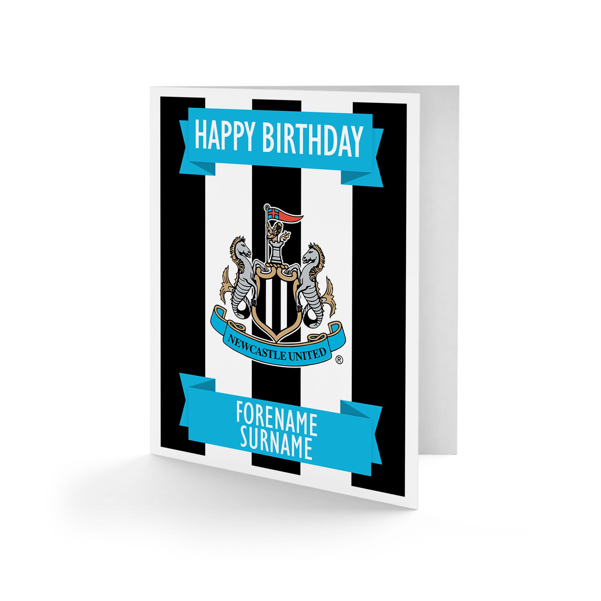 Newcastle United FC Crest Birthday Card