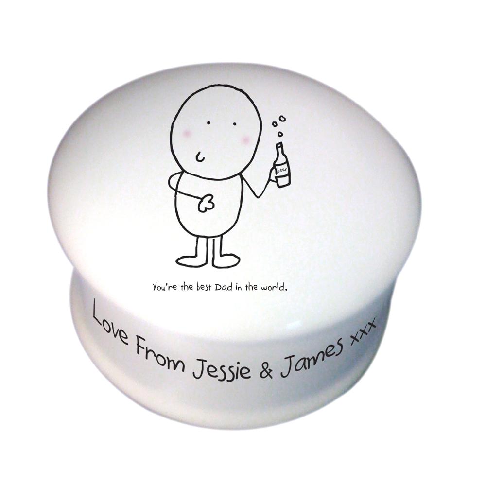 Chilli & Bubbles Best Dad Trinket Box