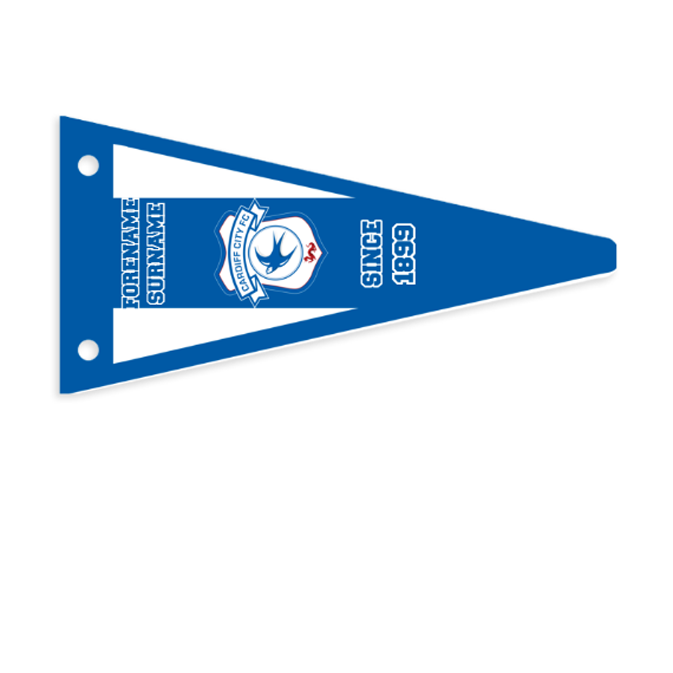 Cardiff City FC Stripes Pennant