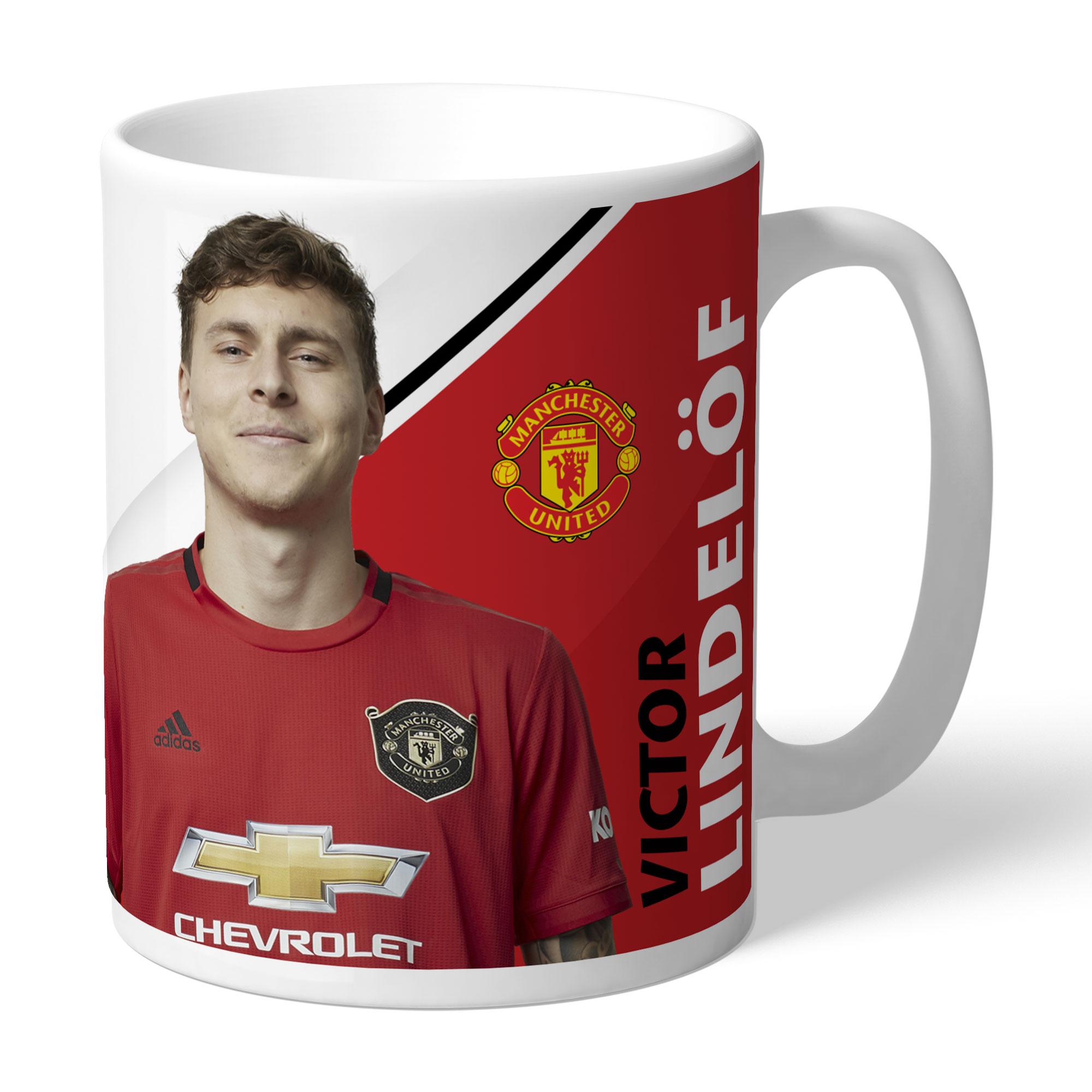 Manchester United FC Lindelof Autograph Mug