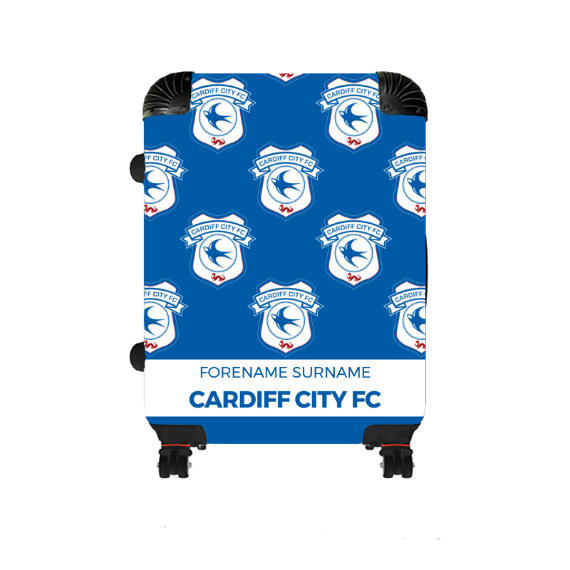 Cardiff City FC Mini Crest Medium Suitcase