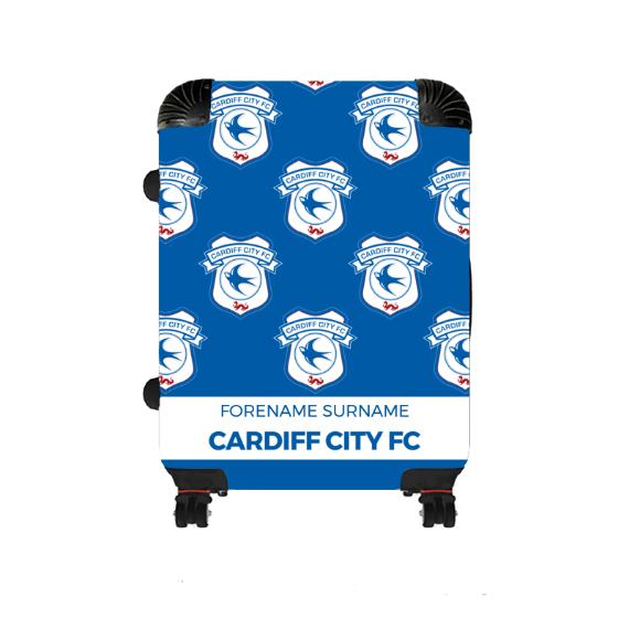 Cardiff City FC Mini Crest Medium Suitcase