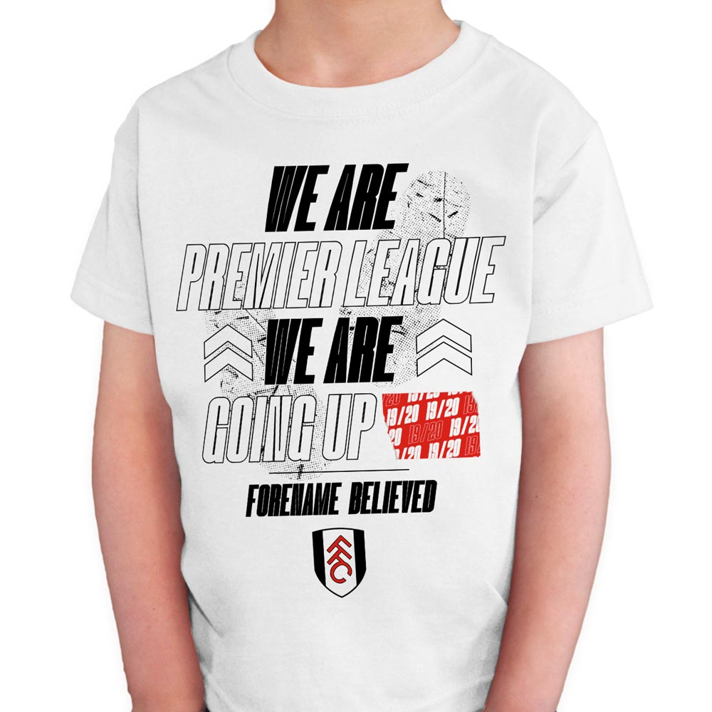 Fulham FC We Are Premier League Kids T-Shirt - White