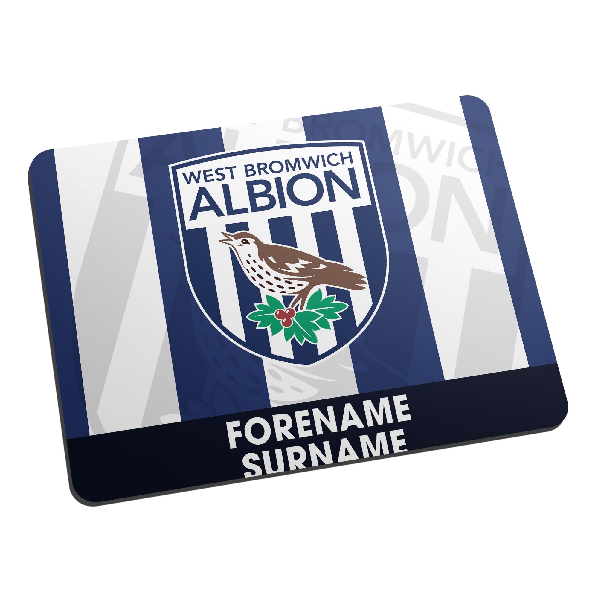 West Bromwich Albion FC Bold Crest Mouse Mat
