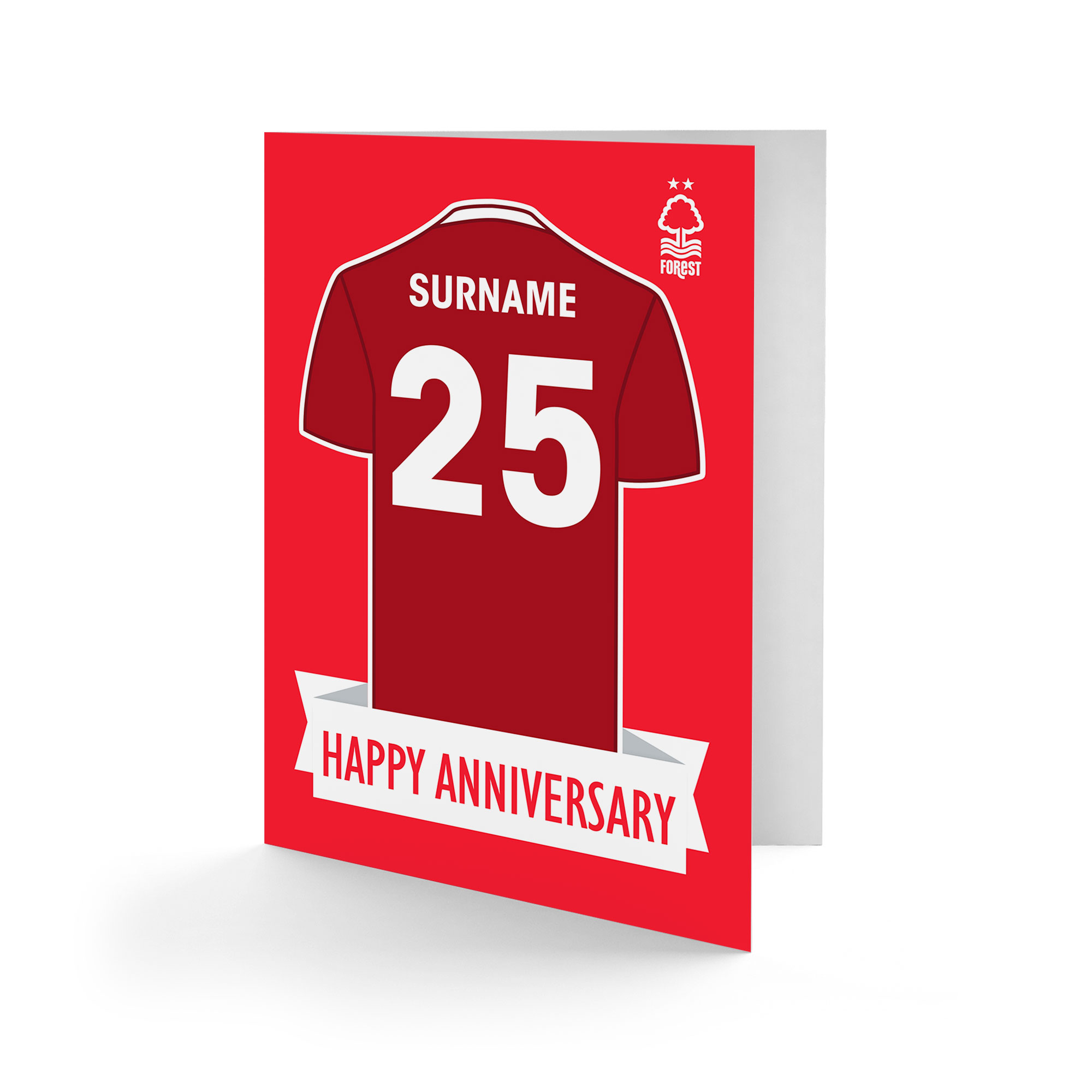 Nottingham Forest FC Shirt Anniversary Card