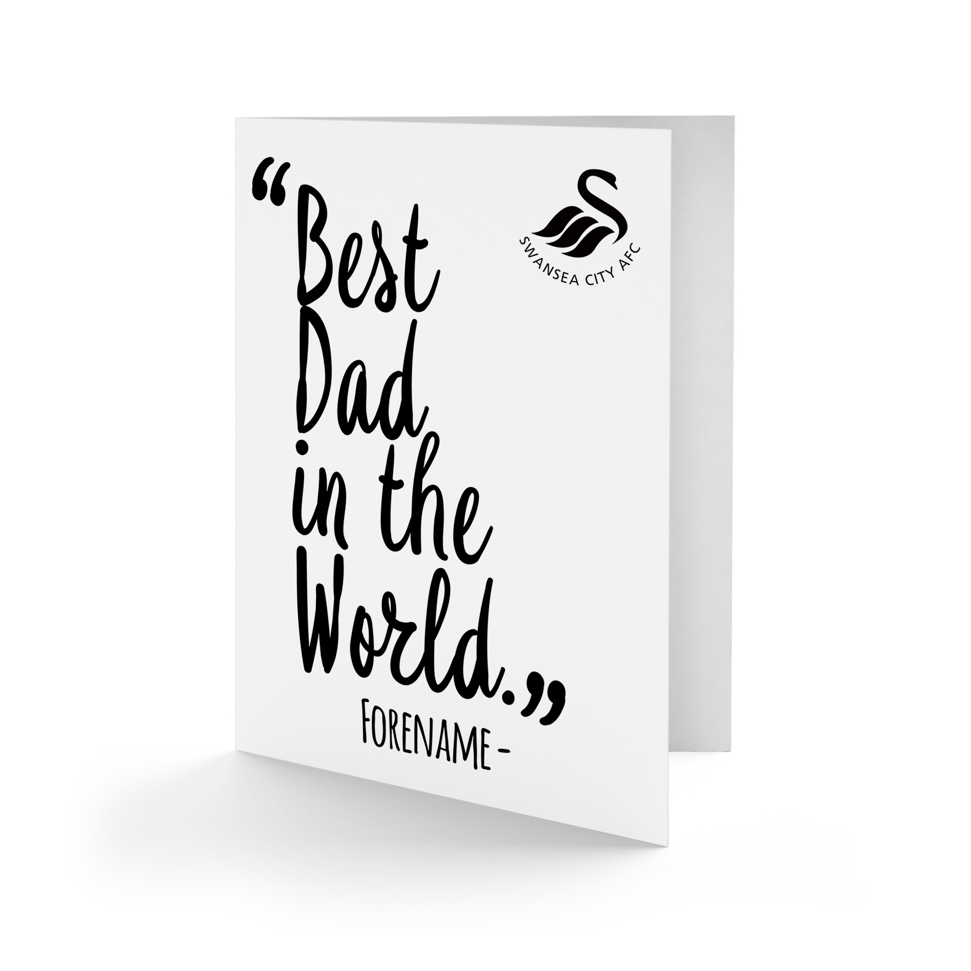 Swansea City AFC Best Dad In The World Card