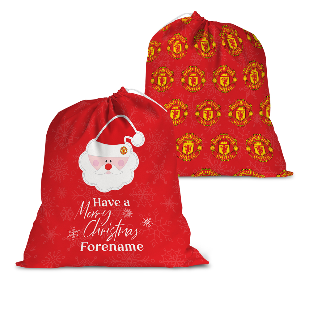 Manchester United FC Merry Christmas Santa Sack