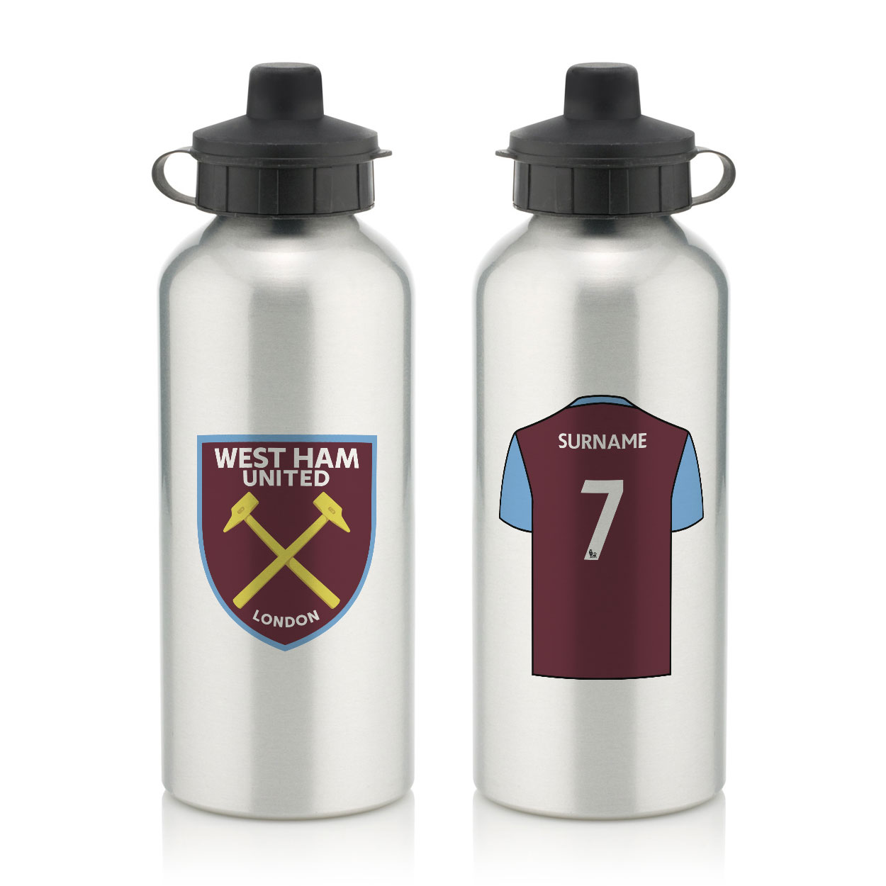 West Ham United FC Aluminium Water Bottle