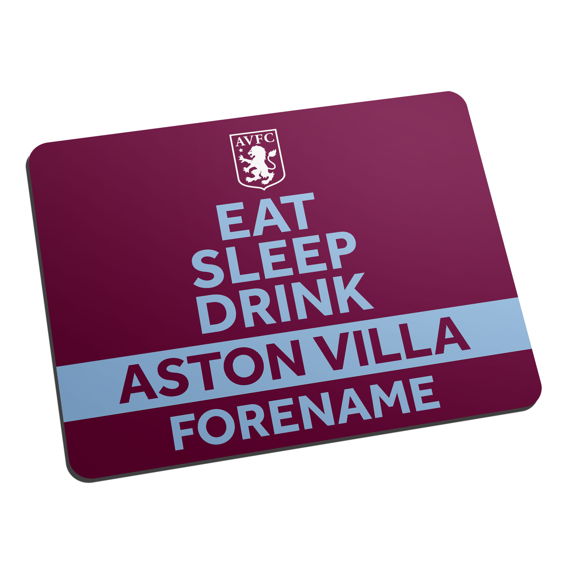 Aston Villa FC Eat Sleep Drink Mouse Mat