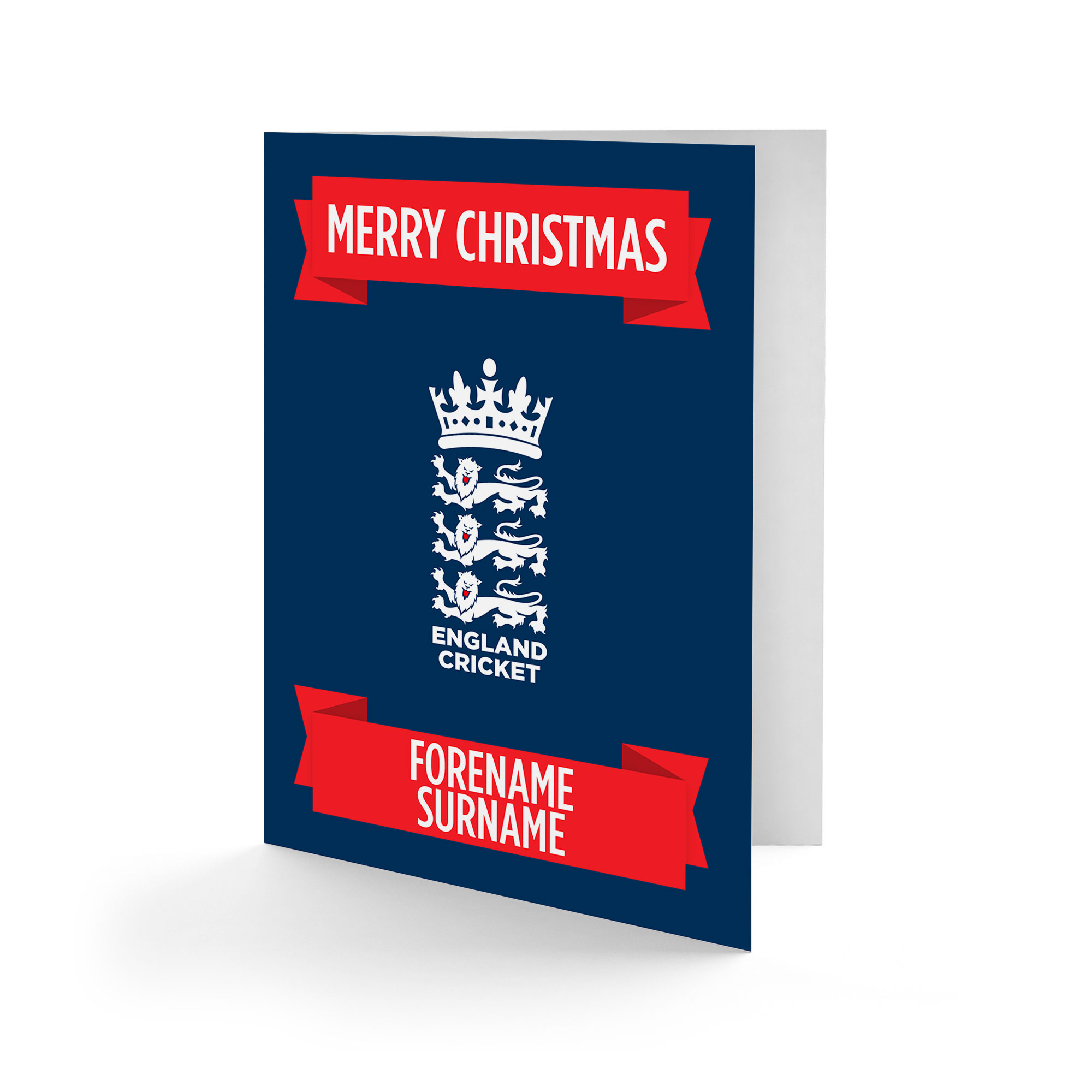 England Cricket Crest Christmas Card