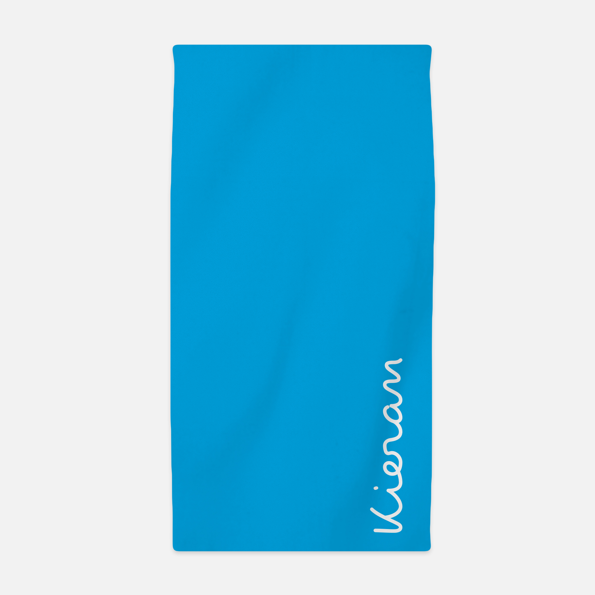 Personalised Beach Towel - White on Blue