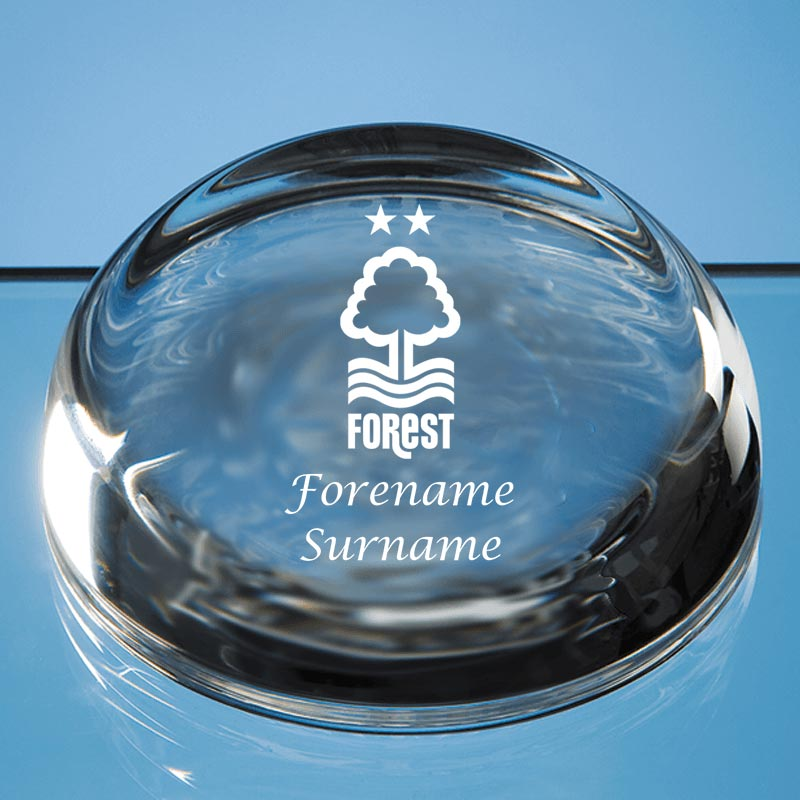 Nottingham Forest FC Crest Optical Crystal Paperweight