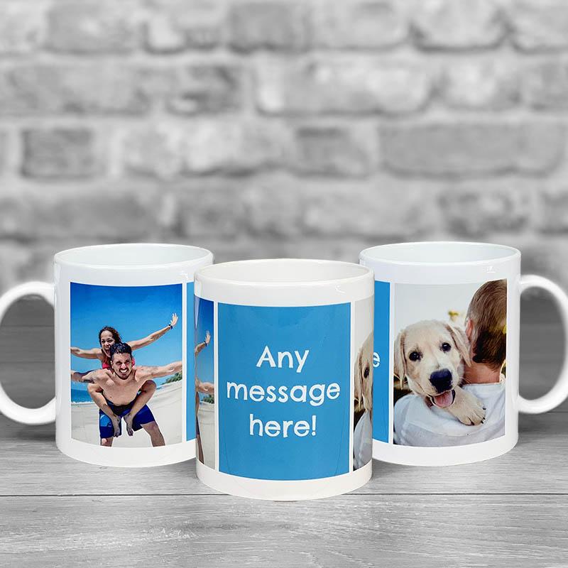 Photo Upload Mug With Personalised Message