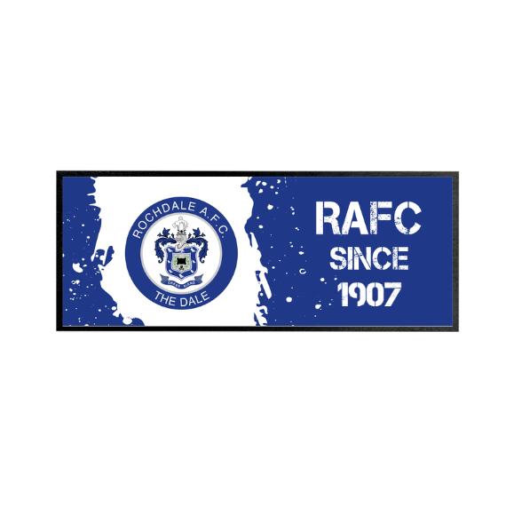 Rochdale AFC Paint Splash Regular Bar Runner