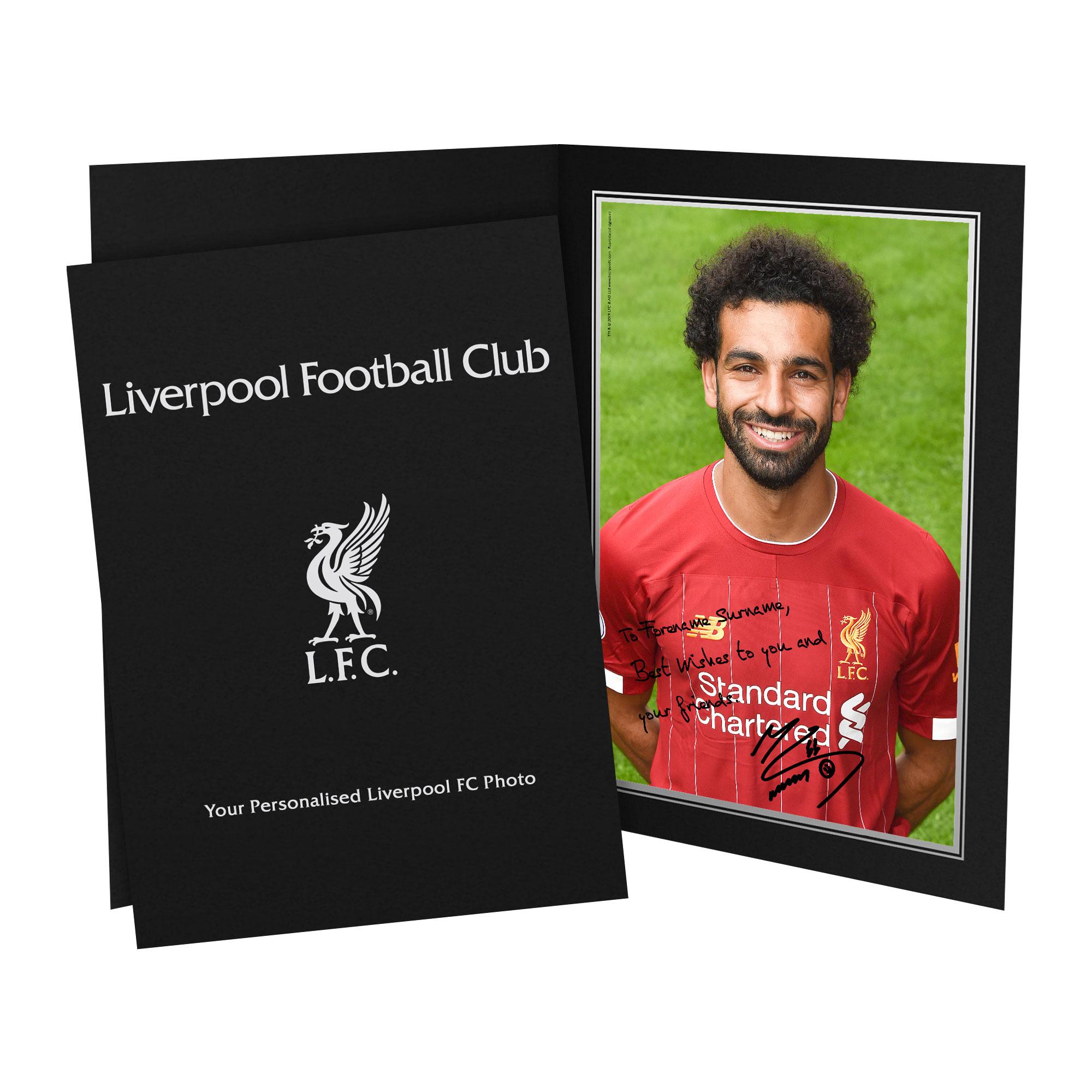 Liverpool FC Salah Autograph Photo Folder