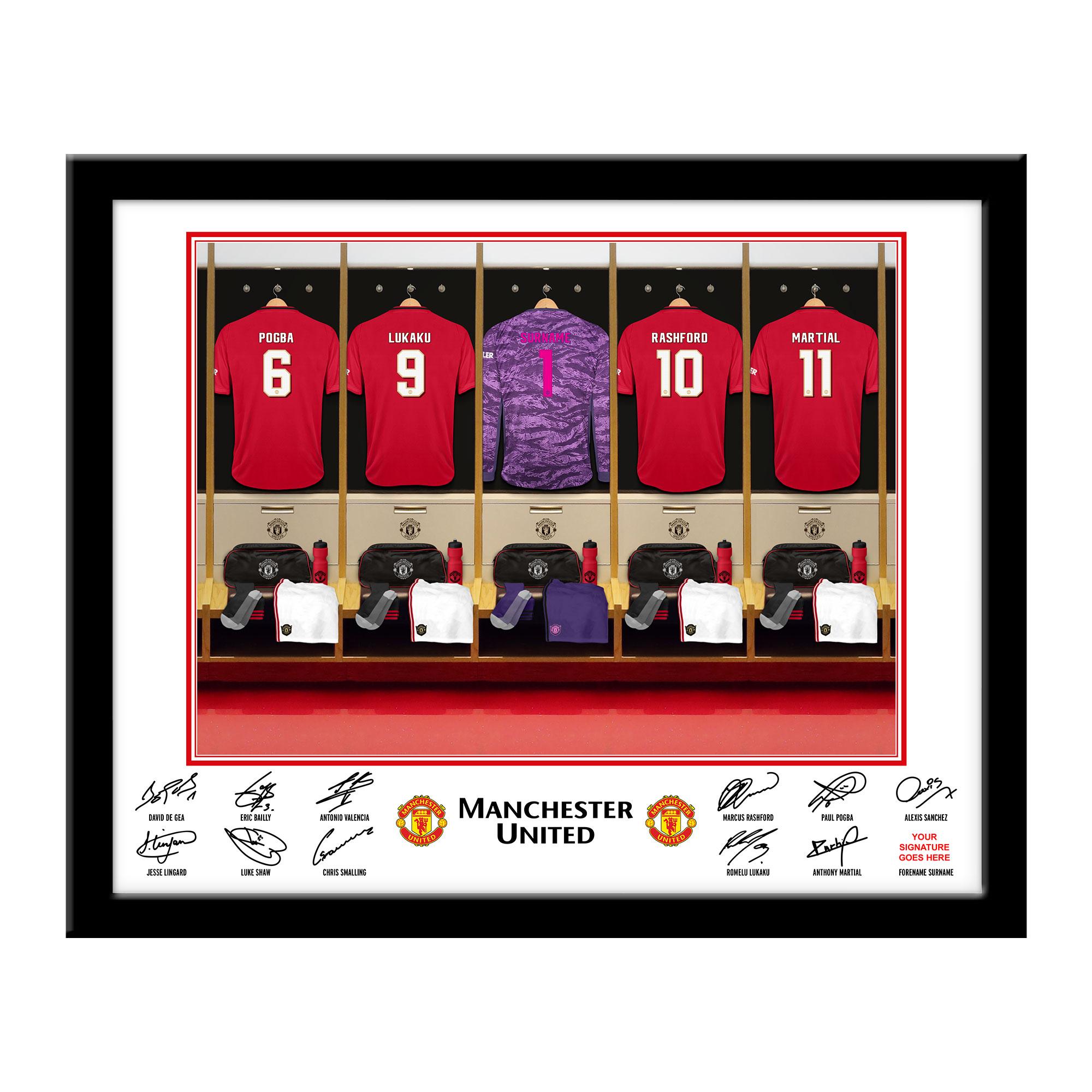 MUFC Goalkeeper Dressing Room Framed Print