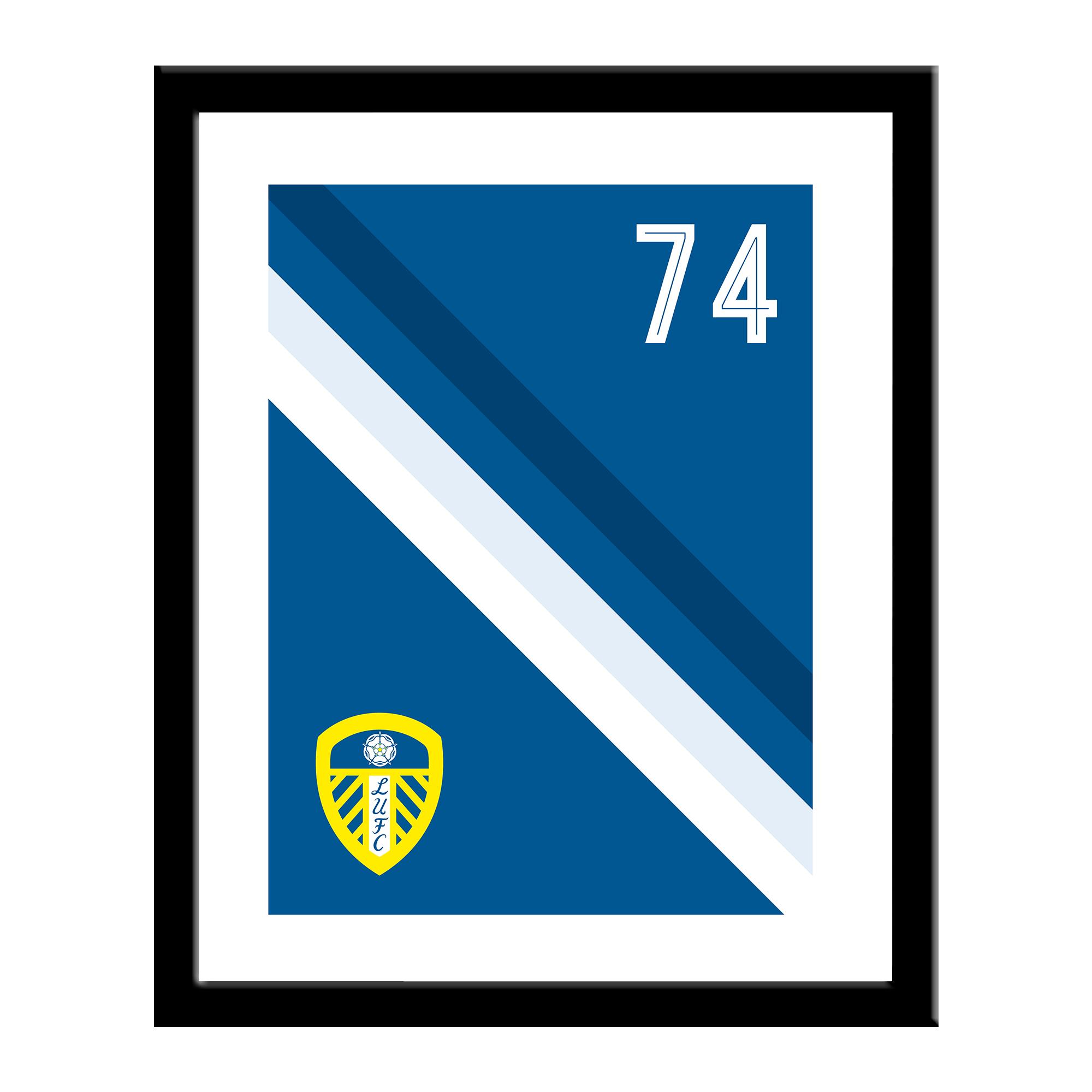 Leeds United FC Stripe Print