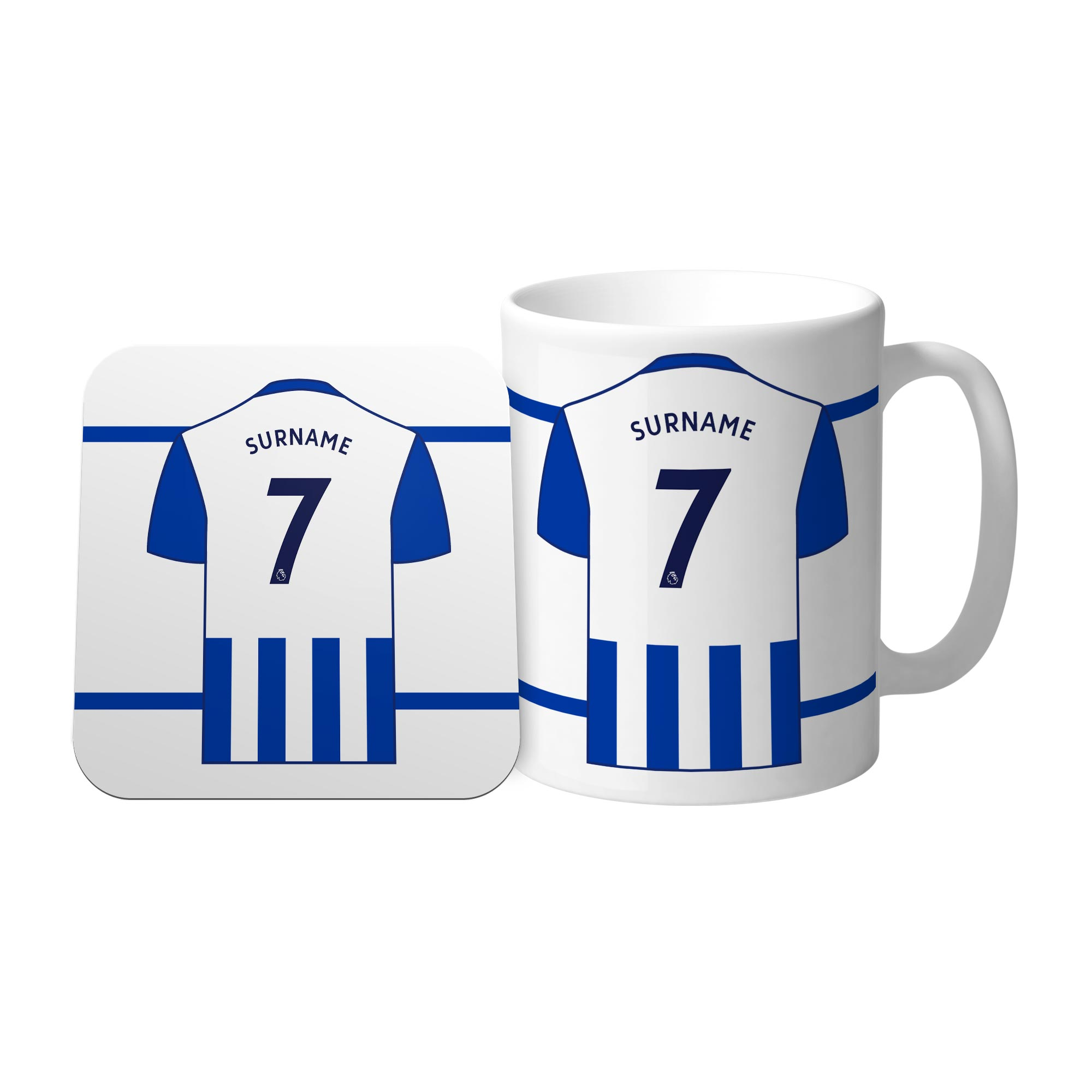 Brighton & Hove Albion FC Shirt Mug & Coaster Set