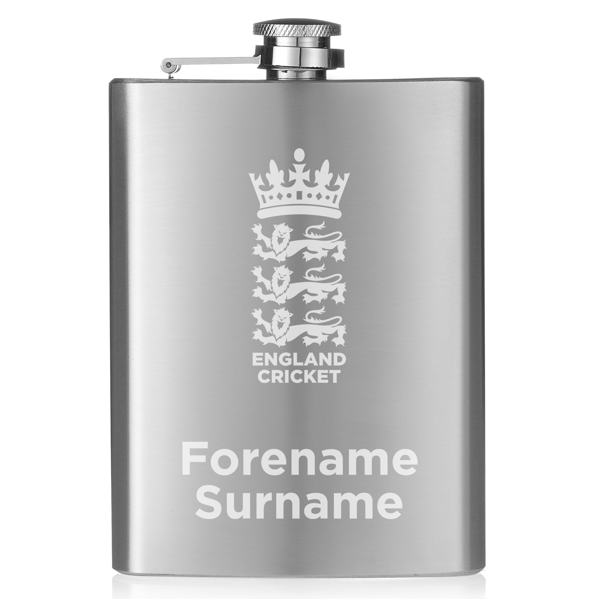 England Cricket Crest Hip Flask