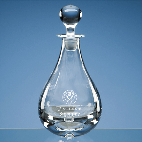 Sheffield United Personalised Crest Wine Decanter